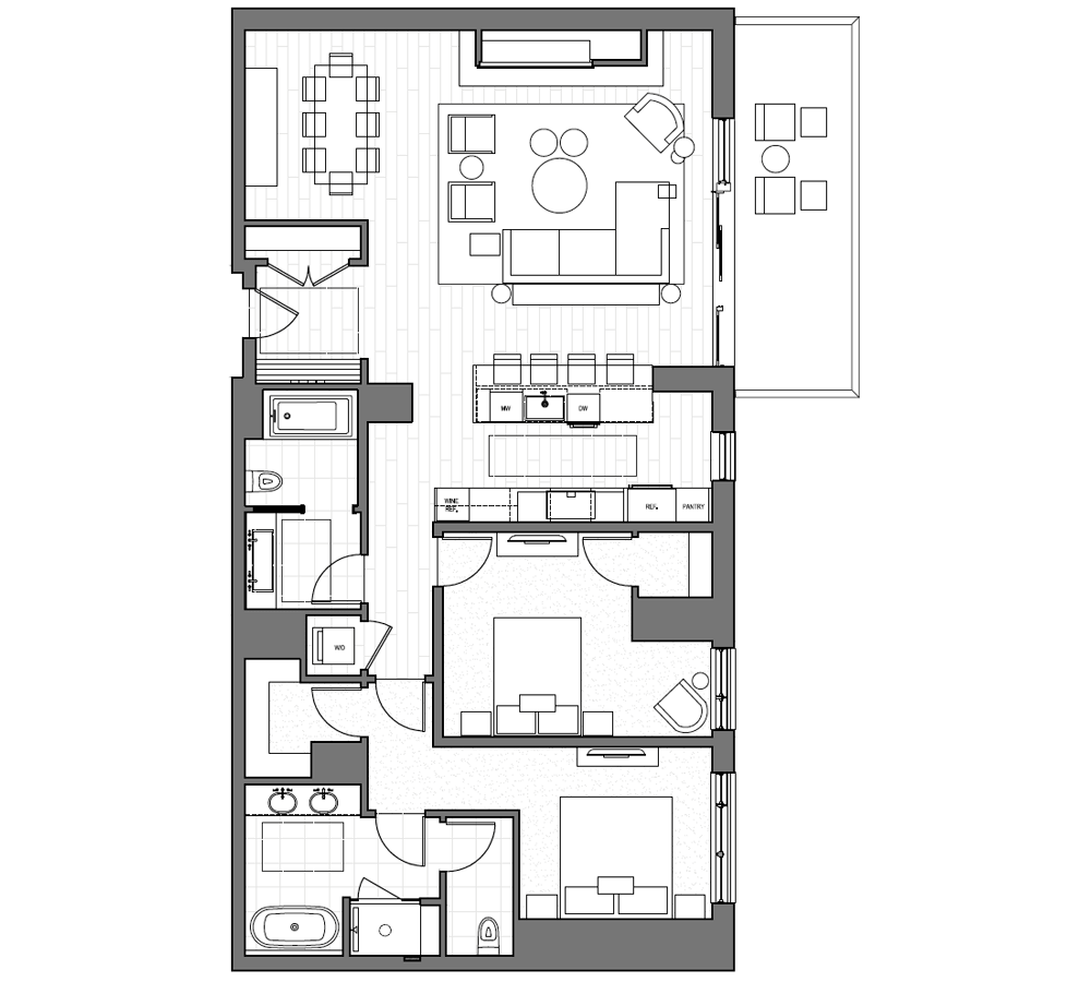Typical 3 Bedroom Floor Plan