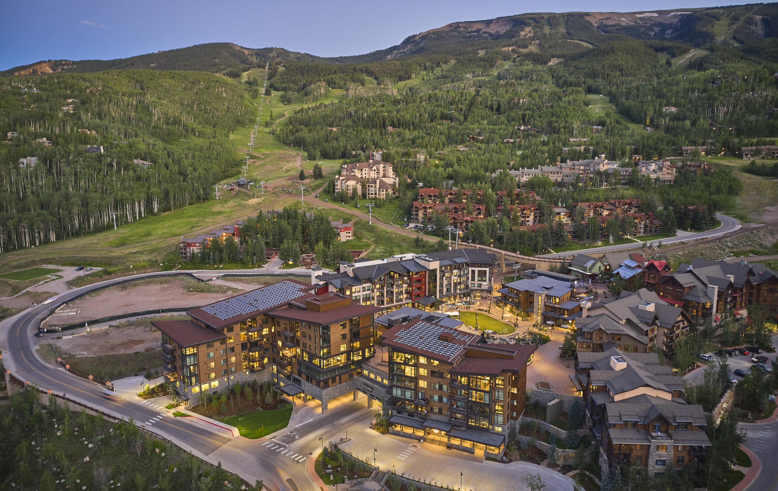 Snowmass Base Village Aerial