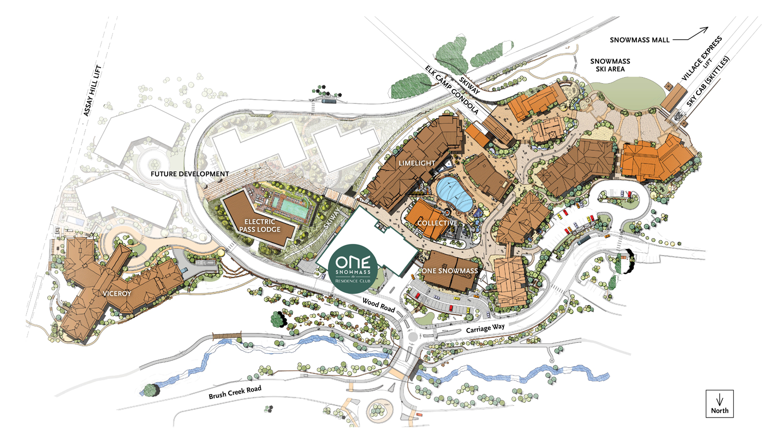 One Snowmass Residence Club Location Map