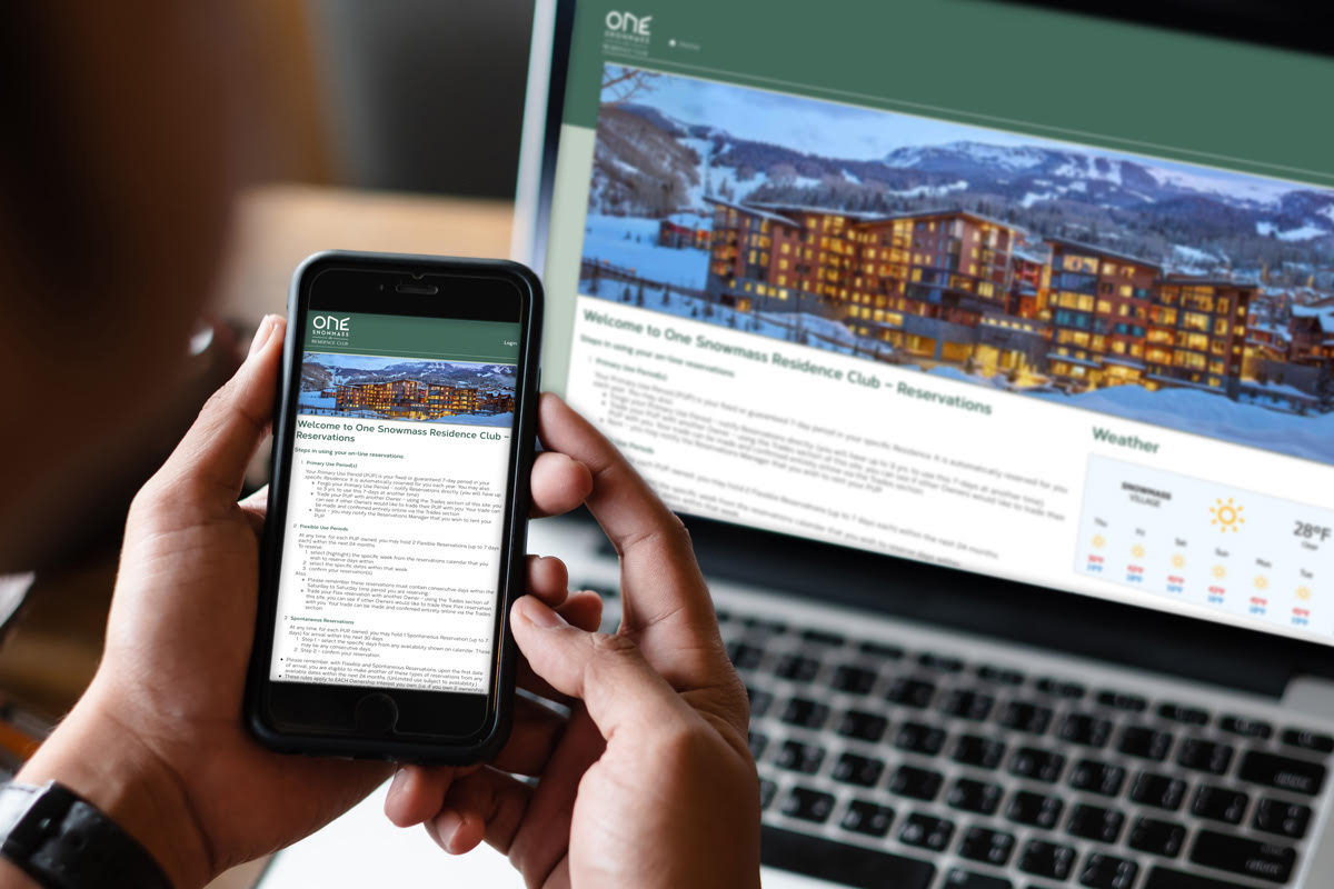 One Snowmass Reservation Portal